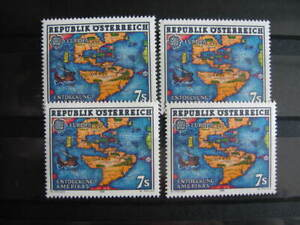 CEPT-Europe, 4 single stamps, OESTERREICH, 1992, **/MNH