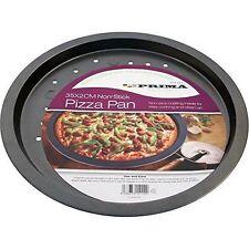 Set of 2 Round Pizza Pan Tray Crisper Vented Non Stick Size 14 Inch 35cm