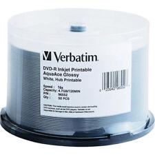 ($0 P & H) Verbatim 96552 AZO DVD-R 4.7GB 50Pk White Water Proof InkJet Glossy