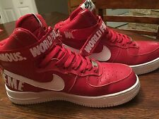 Nike Air Force 1 High Supreme Red World Famous QS Size 8 Mens.