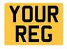 REAR Stick On Number Plate vinyl For Caravan Trailer 4x4 Off roader 11x8