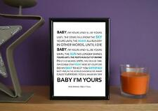 Framed - Arctic Monkeys - Baby I'm Yours - Poster Art Print - 5x7 Inches