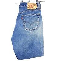 Levi Strauss 501xx W36 L34 Straight Vintage Leg Blue Stone Wash Button Jeans