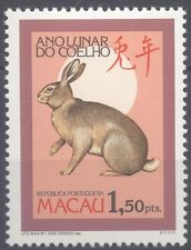 MACAU 1987 NEW YEAR STAMP YEAR OF THE HARE MNH VERY FINE