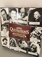 The Game of Quotations Board Game from MB 1987 Complete rare game Quotes