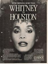 Whitney Houston 1988 Ad- Essence
