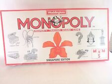 Monopoly Singapore Edition 1991 Orchid Cover Waddington's