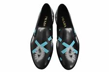 New Authentic PRADA Leather Mens Loafers Shoes Schuhe Sz US11 EU44 UK10