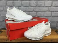 NIKE LADIES UK 3 EU 36 AIR MAX 97 TRIPLE WHITE BULLET OG TRAINERS RRP £145