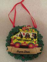 "RARE ""MERRY CHRISTMAS"" CAYMAN ISLANDS CHRISTMAS TREE ORNAMENT EXCELLENT L@@K!"