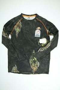 Mens Mossy Oak Eclipse Camo Long Sleeve Insect Repellent Shirt NEW! NWT