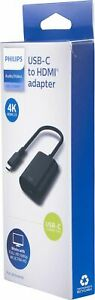 Philips 2.0 USB-C to HDMI Adapter in Black