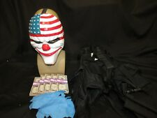 Payday 2 Heist Cosplay Costume Kit.Dallas Mask,Tactical Vest,Latex Gloves,