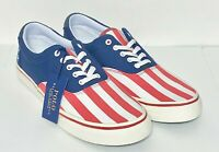 Polo Ralph Lauren Thorton USA American Flag Size 9 Patriotic July 4th Shoes NWOB