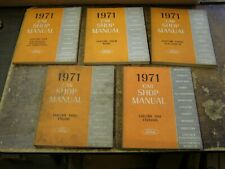 Original OEM 1971 Ford Lincoln Mercury Car Shop Manual Set Books Mustang Torino