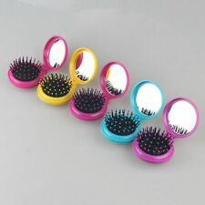 Portable Travel Foldable Folding Hair Brush with Mirror Pocket Air Bag Comb
