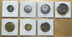 Keeling Cocos 2004 Coin Set; Set of 7 Coins; UNC (box 1)