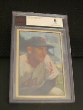 1953 Bowman Color Al Lopez Indians BVG 6 Graded PSA #143