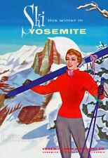 Yosemite Skiing & Snow Area - 1950's Advertising Poster