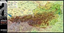 3D-Landkarte Österreich 67,5 x 35 cm Karte Austria Alpen