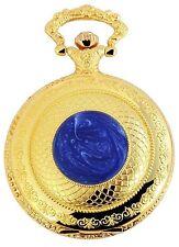 Taschenuhr Weiß Gold Blau Metall Quarz Herrenuhr D-50742418120399