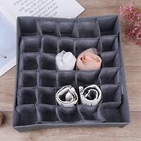30Cells Bamboo Charcoal Underwear Ties Socks Drawer Closet Organizer Storage YK