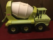 Vintage Tonka Mighty Ready Cement Mixer 6 Wheel Lime Green 1972 Great Condition