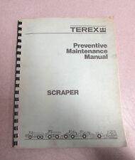 Terex Scraper Preventive Maintenance Manual 1981 76SP15