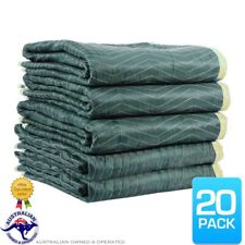 20 x Furniture Moving Padded Blankets 1.8mx3.0m Quilted Removalist Burlap Pads