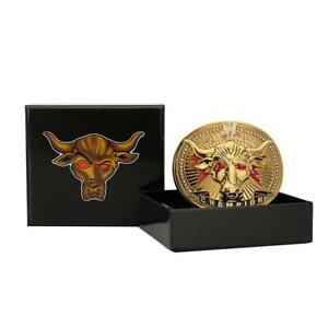 Official WWE Authentic The Rock Brahma Bull Championship Belt Buckle