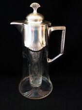 Wunderschöne Jugendstil Kanne, Karaffe;WMF. Glas, Metall