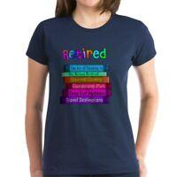 CafePress Retired BOOK STACK Women's Dark T Shirt Womens T-Shirt (1062207083)