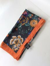 New W/O Tags Saks Fifth Avenue Multicolor Floral Print Polyester Square Scarf
