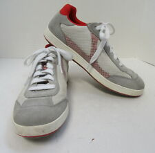PRADA Men's Red and Grey Sneakers Size 6