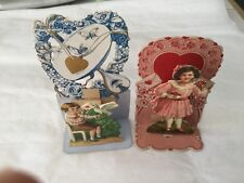 Two small Edwardian die-cut standing Valentine cards Germany