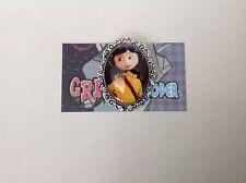 Coraline Jones brooch pin rockabilly pin up girl retro Tim Burton vintage horror