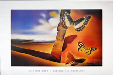 (LAMINATED) SALVADOR DALI - PAYSAGE AUX PAPILLONS - BUTTERFLY POSTER (61x91cm)