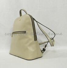 NWT Brahmin Felicity Smooth Leather Backpack in Sand Topsail MSRP $365