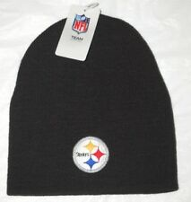 Pittsburgh Steelers Football Team NFL Black Cuffless Beanie Knit Skull Cap Hat