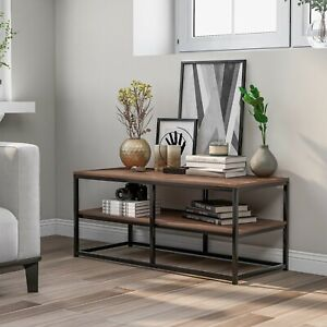 2-Tier Console Table Side End Table Coffee Table Entryway Hallway Furniture