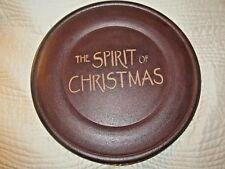 Primitive Country  THE SPIRIT OF CHRISTMAS Home Decor Wooden Decorative Plate