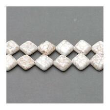 Magnesite Puffy Diamond Beads 12mm Pale Cream 30+ Pcs Gemstones Jewellery Making