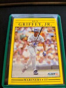 Ken Griffey Jr. Outfield Seattle Mariners Fleer1991 #450 Baseball Card