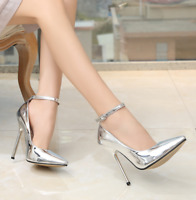 Women Sexy Super High Heels Pointed Toe Stiletto Sandals Catwalk Nightclub Shoes