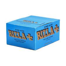 RIZLA BLUE KING SIZE CIGARETTE ROLLING PAPER 50 BOOKLETS FULL BOX