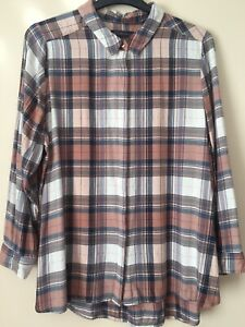 Marks And Spencer Size 24 Shirt Blouse Plus Size Tunic Style Longer Length Top