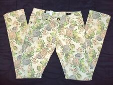 NEW VOLCOM SURF WOMEN STIX SKINNY FIT NATURAL JEANS PANT SIZE 5 P39 RP$65