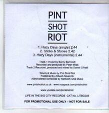 (BT451) Pint Shot Riot, Hazy Days - DJ CD