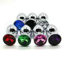 Plug Bijou Anal steel metal stainless styl rosebud 7.3X2.8cm Size S Random color