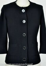 Chanel 07A Classic Black Sweater Cardigan 36 NEW Cashmere Jacket Timeless